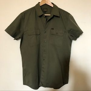 OBEY military short sleeve button down